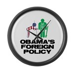 Obama Bow Large Wall Clock