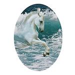 Sea Horse Oval Ornament