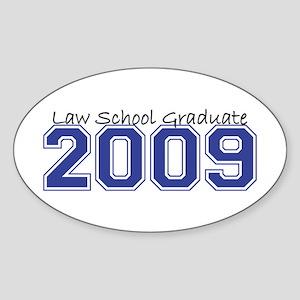Law School Graduate 2009 (Blue) Oval Sticker