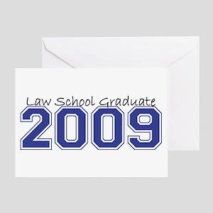 Law School Graduate 2009 (Blue) Greeting Card