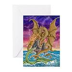 Dragon Battle Greeting Cards (Pk of 10)