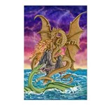 Dragon Battle Postcards (Package of 8)