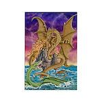 Dragon Battle Rectangle Magnet (10 pack)