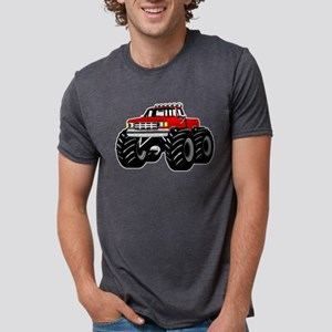 Red MONSTER Truck Mens Tri-blend T-Shirt