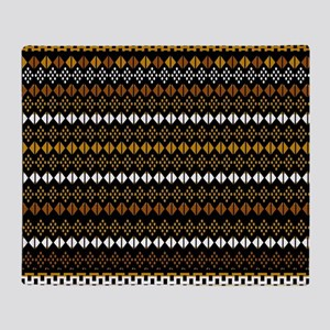 Modern African Tribal Design Throw Blanket