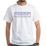 Promised Change 2-sided White T-Shirt