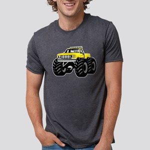 Yellow MONSTER Truck Mens Tri-blend T-Shirt