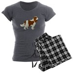 Cavalier King Charles Sp Women's Charcoal Pajamas