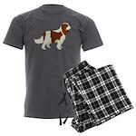 Cavalier King Charles Span Men's Charcoal Pajamas