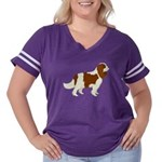Cavalier King C Women's Plus Size Football T-Shirt