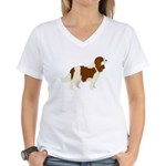 Cavalier King Charles Spani Women's V-Neck T-Shirt