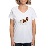 Cavalier King Charles Spani Women's V-Neck T-Shirt