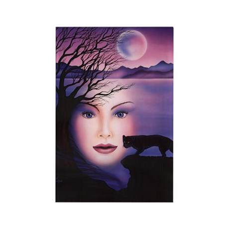 Moon Shadow Rectangle Magnet (10 pack)