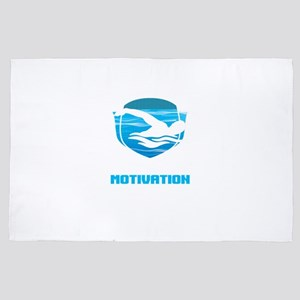 Awesome Swimmers Need Little Motivatio 4' x 6' Rug