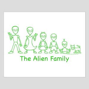 AlienFamilyText Small Poster