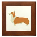 Pembrook Welsh Corgi Framed Tile