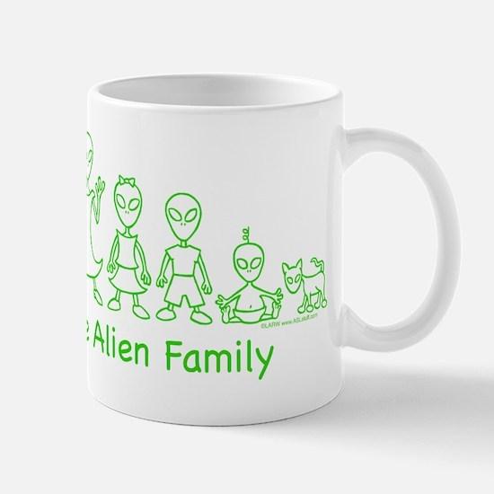 AlienFamilyText Mug