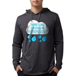 There's No Crying In Meteorology Mens Hooded Shirt