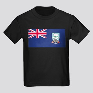 Falkland Islands (Islas Malvi Kids Dark T-Shirt