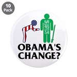 """Change? 3.5"""" Button (10 pack)"""