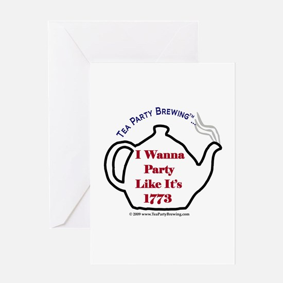 Cute Party like it s 1773 Greeting Card