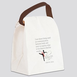 Dance Quote with Attitude Canvas Lunch Bag