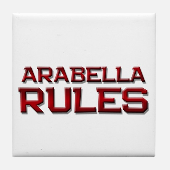 arabella rules Tile Coaster