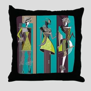 Fashion Models Throw Pillow