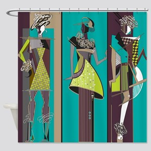Fashion Models Shower Curtain