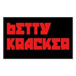 Betty Kracker Sticker (Rectangle)