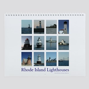 Rhode Island Lighthouse Monthly Wall Calendar