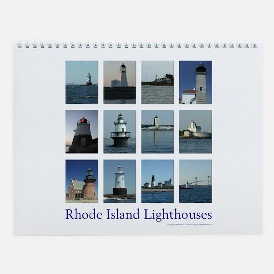 Rhode Island Lighthouse Monthly Wall Calendar