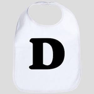 Large Letter D Bib
