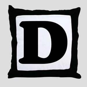 Large Letter D Throw Pillow