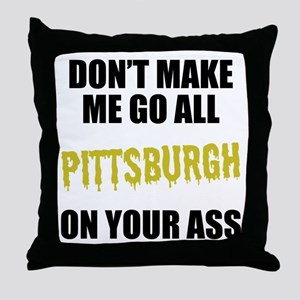 Pittsburgh Football Throw Pillow