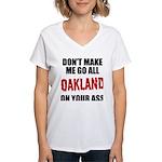 Oakland Football Women's V-Neck T-Shirt