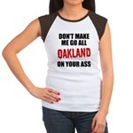 Oakland Football Women's Cap Sleeve T-Shirt