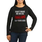 Oakland Football Women's Long Sleeve Dark T-Shirt