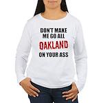 Oakland Football Women's Long Sleeve T-Shirt