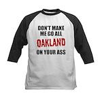 Oakland Football Kids Baseball Jersey
