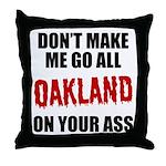 Oakland Football Throw Pillow