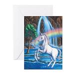 Rainbow Unicorn Greeting Cards (Pk of 10)