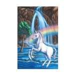 Rainbow Unicorn Mini Poster Print