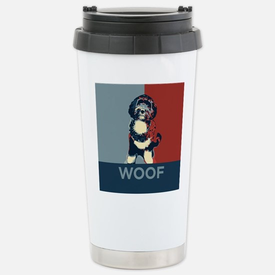 WOOF! Bo The First Dog Stainless Steel Travel Mug