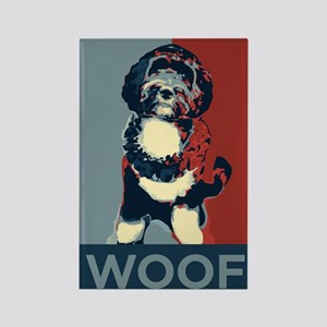 WOOF! Bo The First Dog Rectangle Magnet
