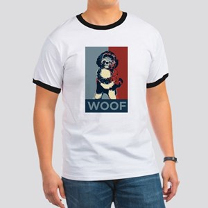 WOOF! Bo The First Dog Ringer T