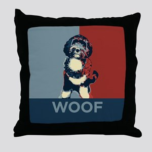 WOOF! Bo The First Dog Throw Pillow