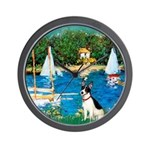 Sailboats / Rat Terrier Wall Clock