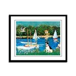 Sailboats / Rat Terrier Framed Panel Print