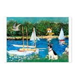 Sailboats / Rat Terrier Postcards (Package of 8)